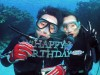 Happy Birthday Diving in チービシのち恩納村
