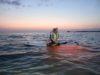 穏やかな糸満の海でサンセット&ナイトSUP